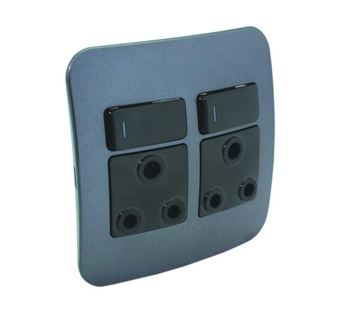 Veti 100X50 Double RSA Socket Outlet