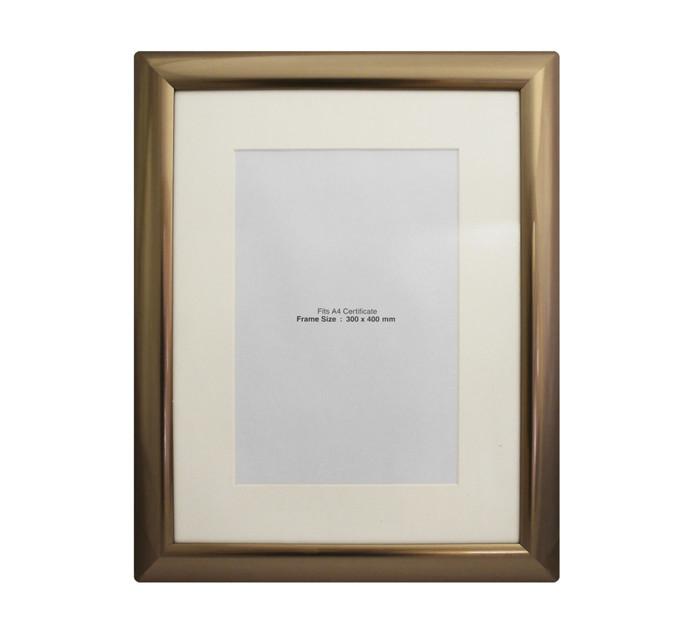 300mm x 400mm Certificate Frame Metallic