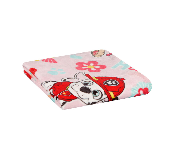 Character Coral Flannel Throw Paw Patrol Pink
