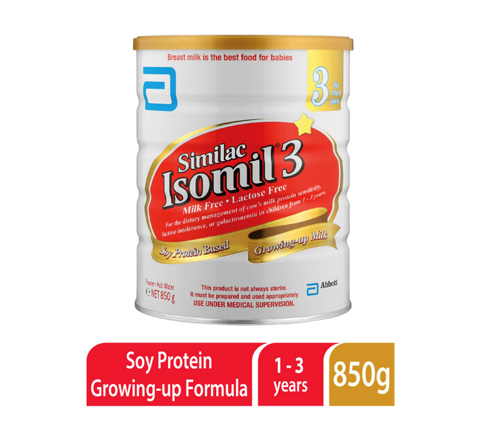 Isomil Infant Soya Formula 3 (1 x 850g)