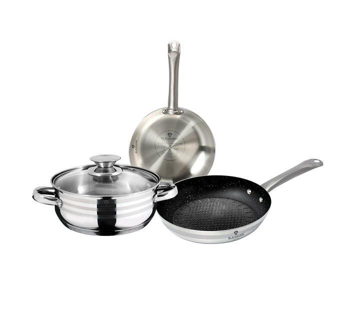 Blaumann 4-Piece Stainless Steel Cookware Set Gourmet Line