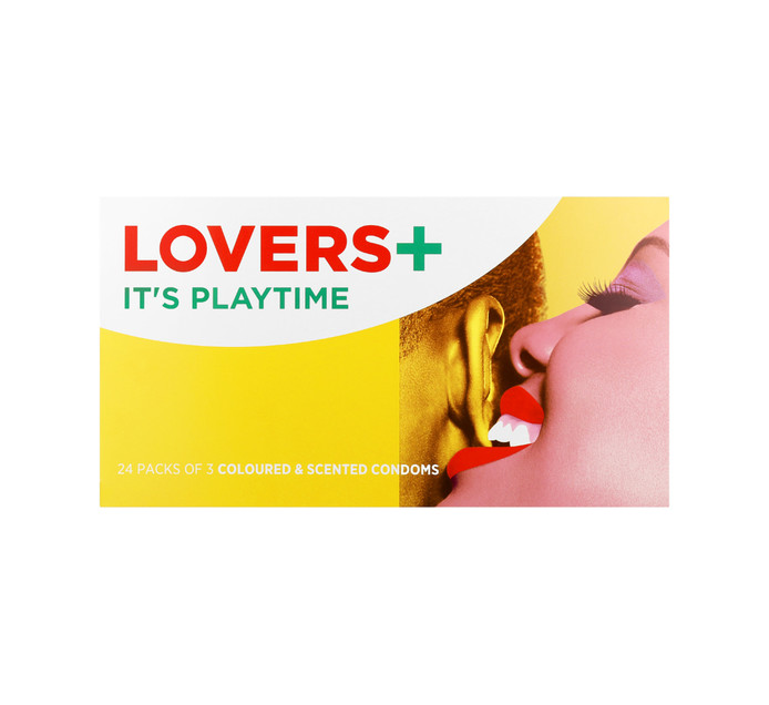 LOVERS PLUS Coloured and Scented Condoms (24 x 3's)