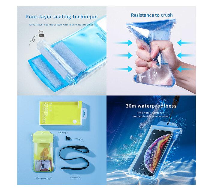 Baseus Safe Airbag Waterproof Case - Blue