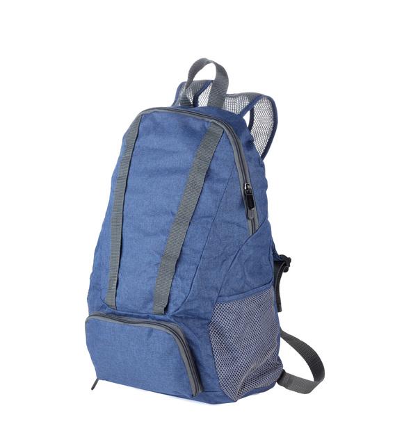 Troika Foldable Backpack 12 Litre Blue/Grey