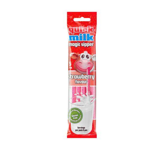 Quickmilk Flavoured Milk Straw Strawberry (30 g)