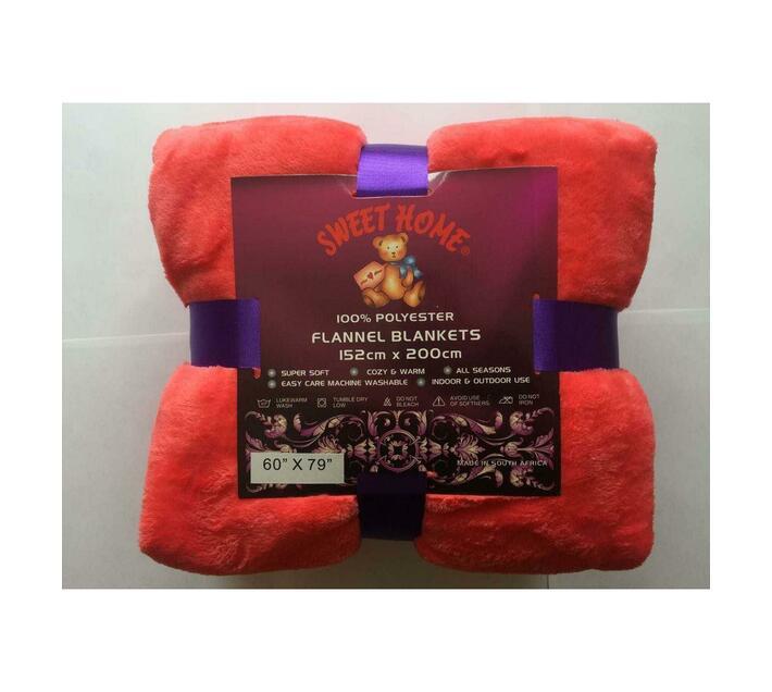 Plain Flannel Blanket -Queen