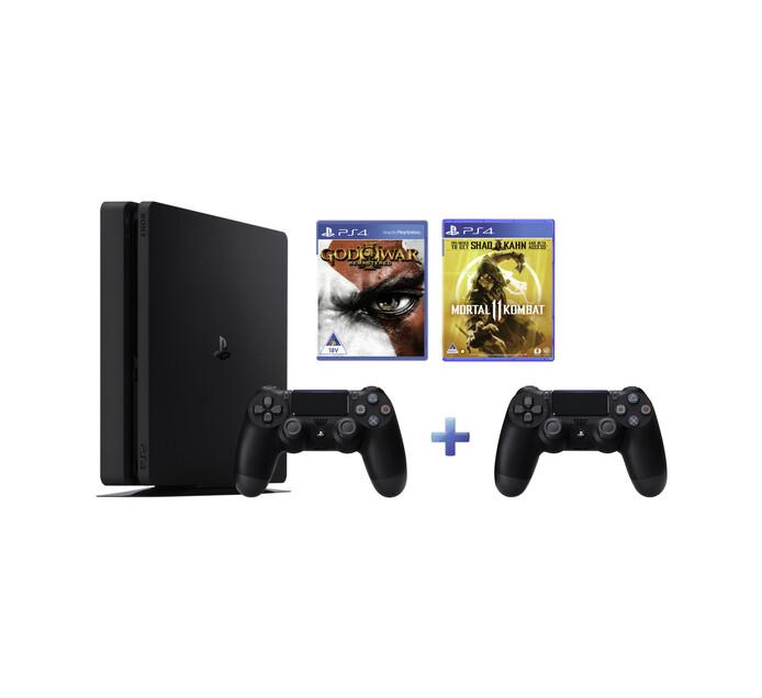 PS4 1TB+DS4 BLACK+GOD III REMAST+MK11