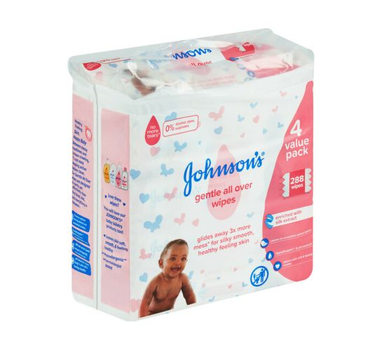 Johnson's Baby Wipes Gentle All Over (1 x 288's)