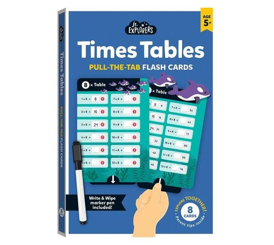 Junior Explorers : Times Table Pull-the-Tab Flash Cards