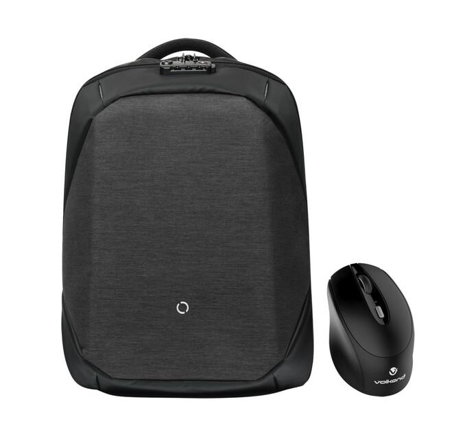 "Kingsons 39 cm (15.6"") Anti-Theft Laptop Backpack Bundle"