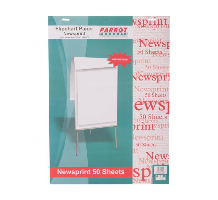 Parrot Newsprint Flip Chart Paper 50 Sheets