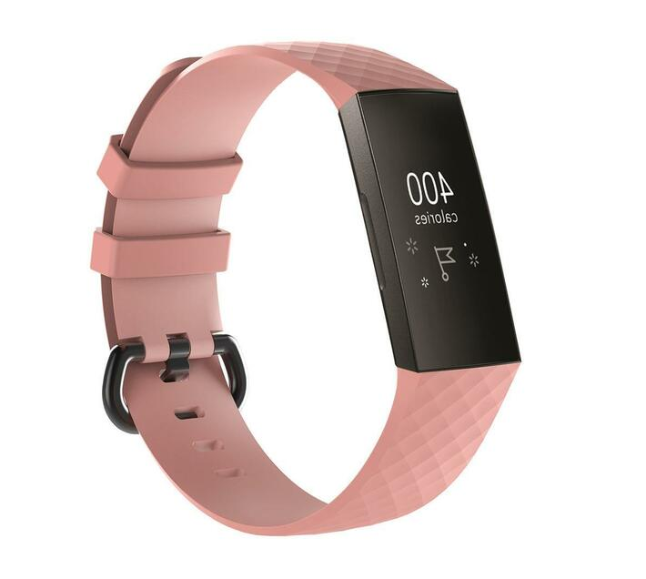 MDM Electron Large Fitbit Charge 3 Silicone Strap-Pink
