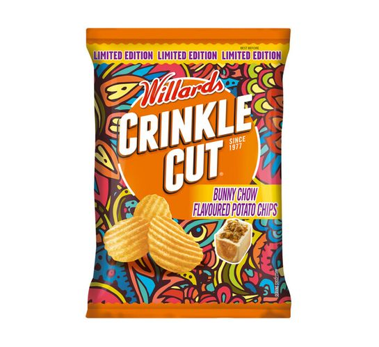Willards Crinkle Cut Potato Chips Bunny Chow (18 x 125g)