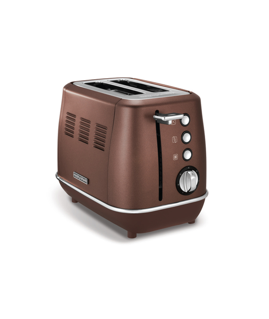 "Morphy Richards 2 Slice Toaster Stainless Steel Bronze 900W ""Evoke"""