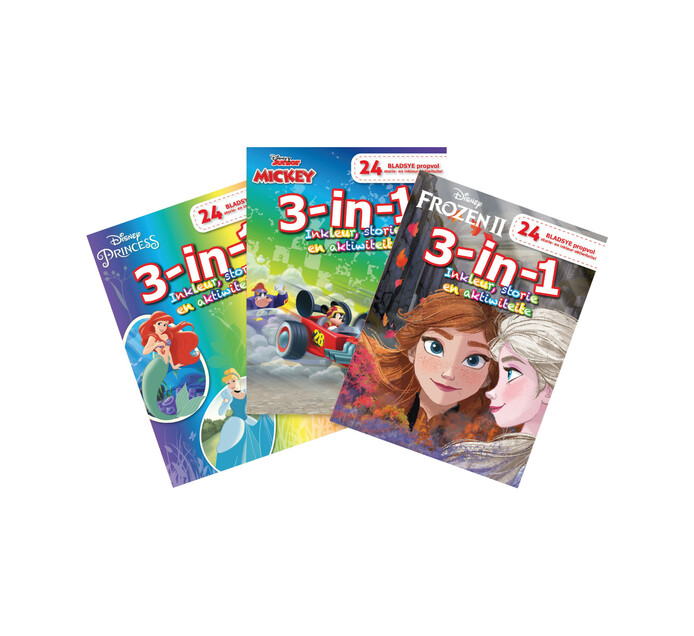 Disney 24-Pages Colouring Book 3-In-1