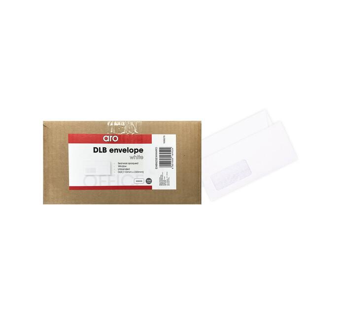 ARO DL Banker Seal Easi Envelopes Window 500-Pack