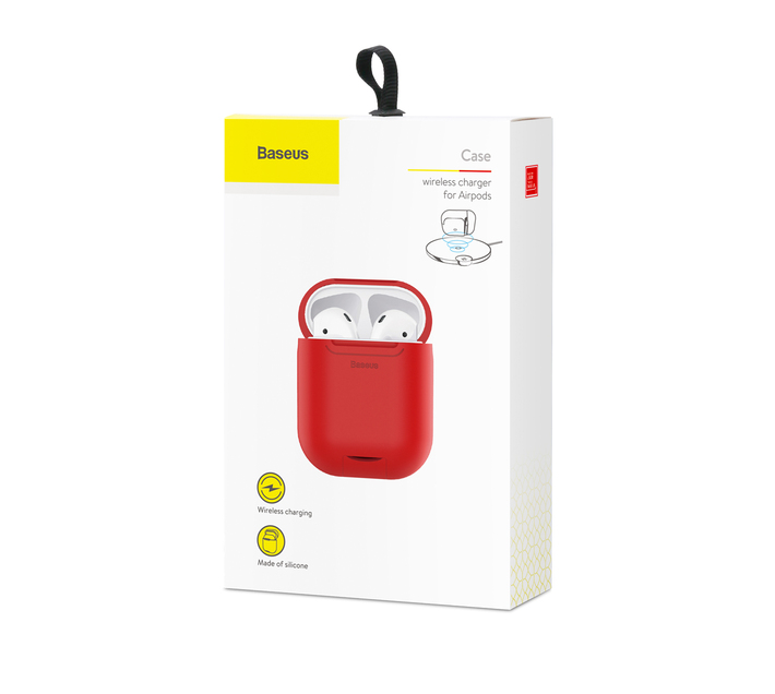 Baseus Wireless Charger Case for Apple AirPods - Red