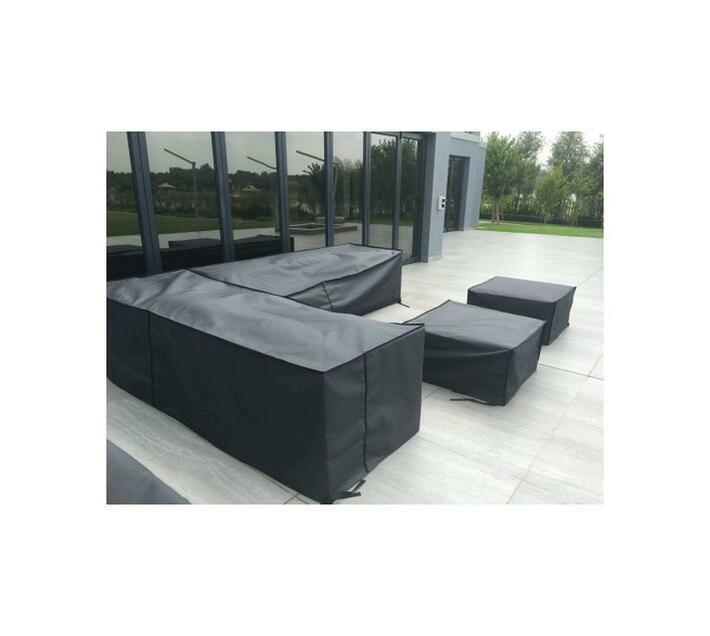 Patio Solution Covers Couch Cover Large - Charcoal Ripstop UV 320grm