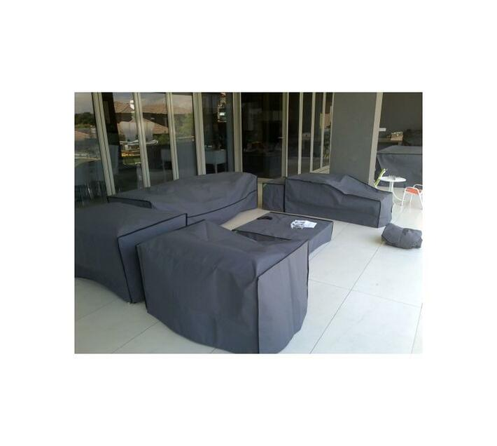 Patio Solution Covers Couch Cover Small - Charcoal Ripstop UV 320grm