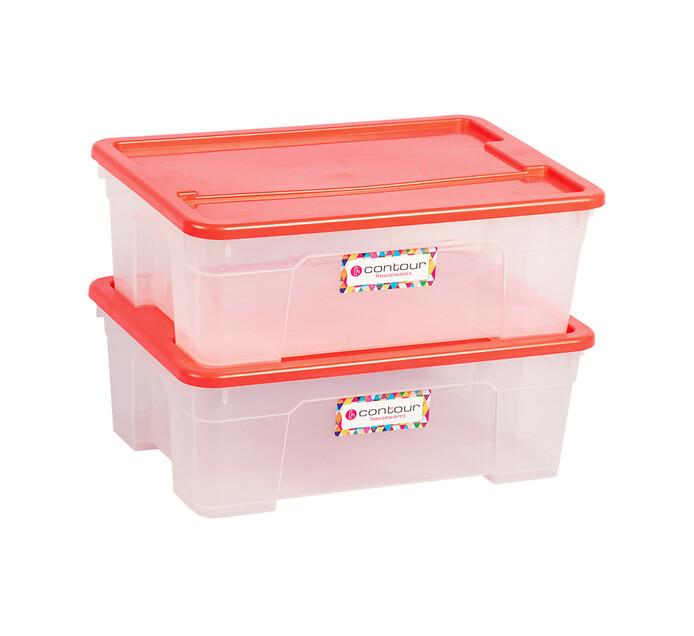 Buzz 11 l Contour Storage Boxes 2-Pack