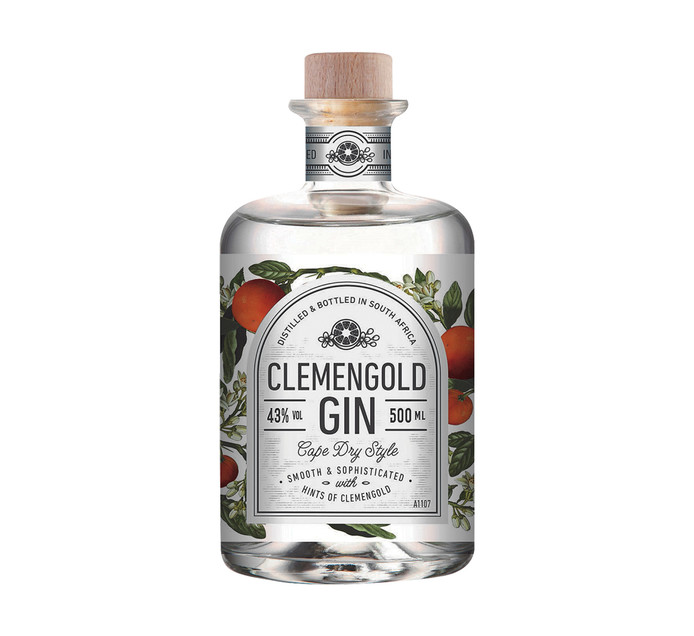 Clemengold Premium Gin (1 x 500ml)