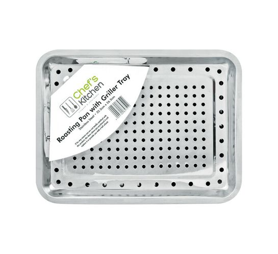 Chef's Kitchen 35 x 26 cm Roaster with Grill Tray