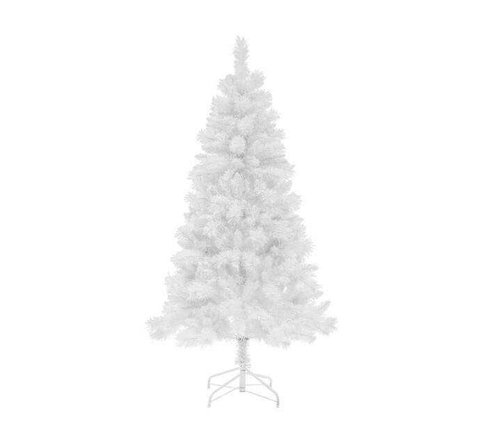 St Nicholas 180 cm Heavy Flocked White tree