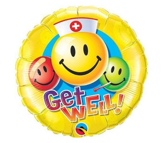 9 INCH FOIL GET WELL SMILEY FACES 1CTL