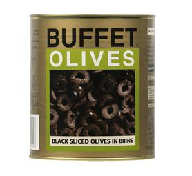 BUFFET Olives Black Sliced (1 x 3.05kg)