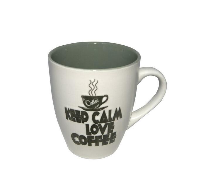 Printed Stoneware Mug -Olive