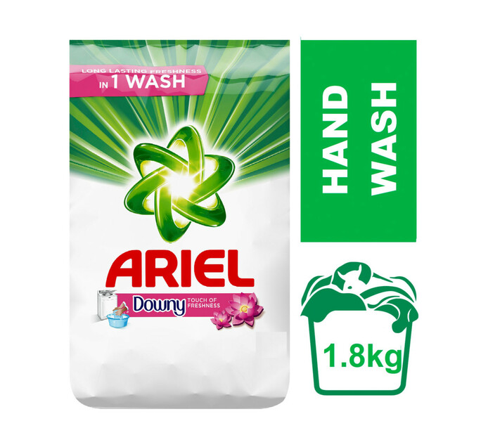 ARIEL Hand Wash Powder Touch Of Downy (8 x 1.5kg + 300g)