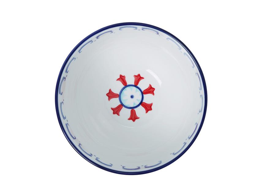 Ceramic Hand Painted 21cm Bowl - Light Blue