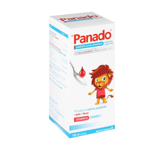 Panado Paediatric Syrup Strawberry (6 x 100ml)