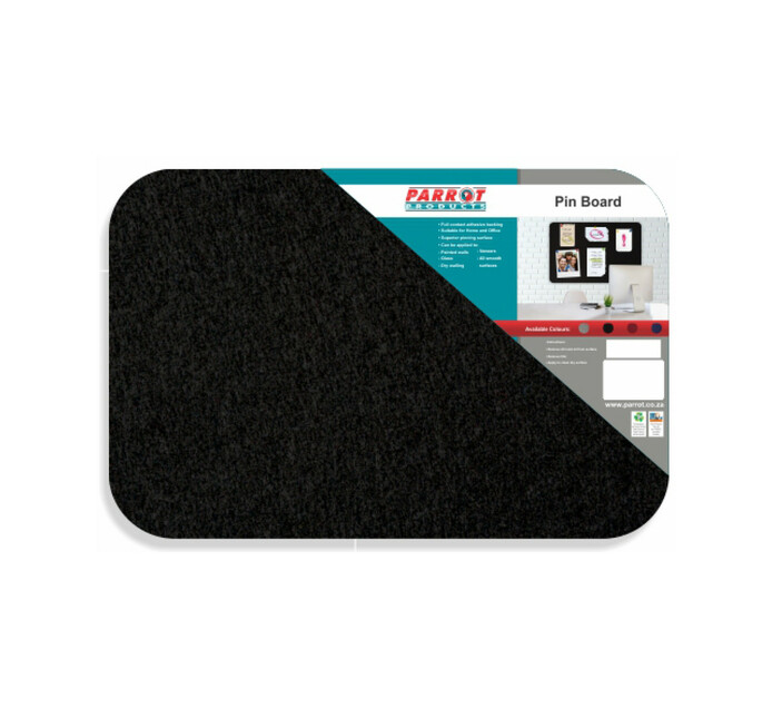 Parrot 450 x 300 Products Pin Board No Frame Black Single