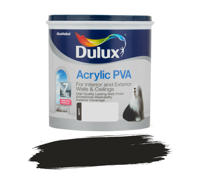 DULUX 1L Acrylic Paint Black