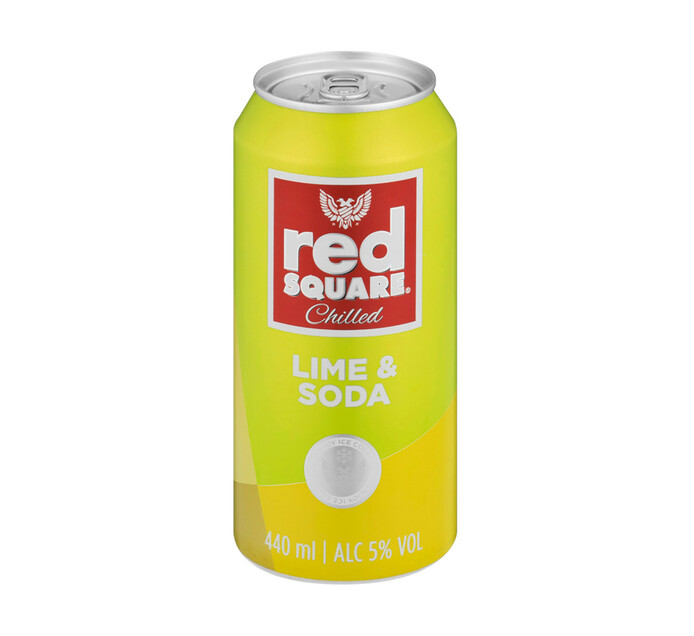 Red Square Chilled Lime and Soda (24 x 440ML)