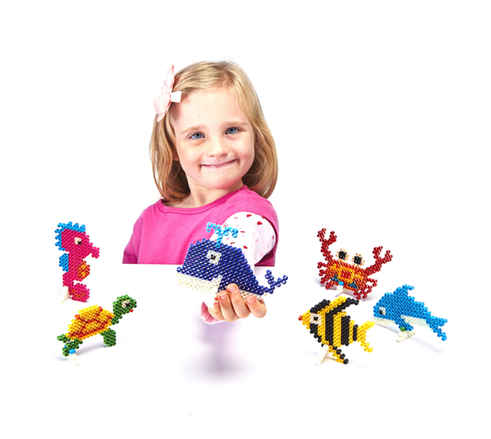JKA - Iron On Bead Craft Toy - Double Combo Kit - Christmas Buddies
