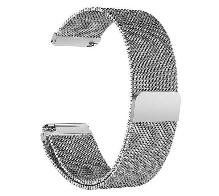 Linxure Milanese Fitbit Versa Strap Silver - Large