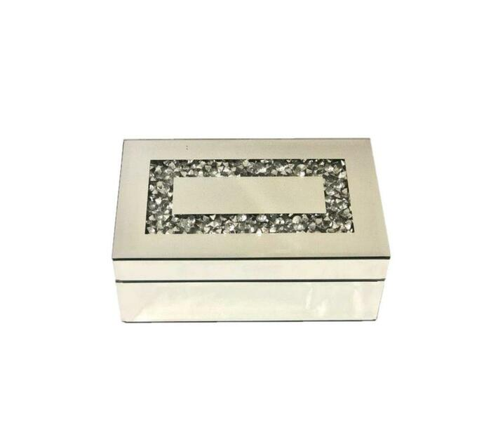 Jewellery Box Rectangle Solid & Crushed Glass pattern