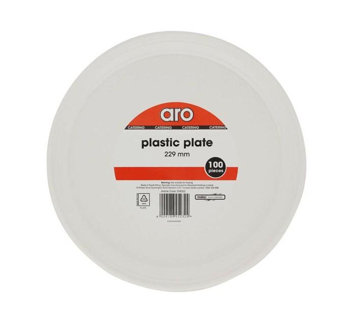 ARO Plastic Plates Plain (1 x 100's)