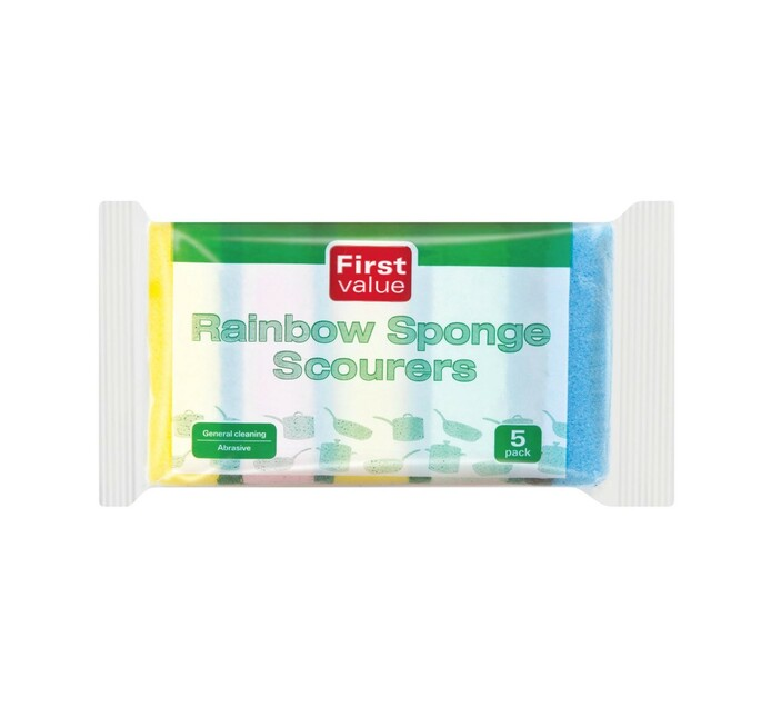 FIRST VALUE RAINBOW SPONGES 5'S