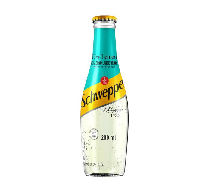 Coca Cola Soft Drink Dry Lemon (4 x 200ml)