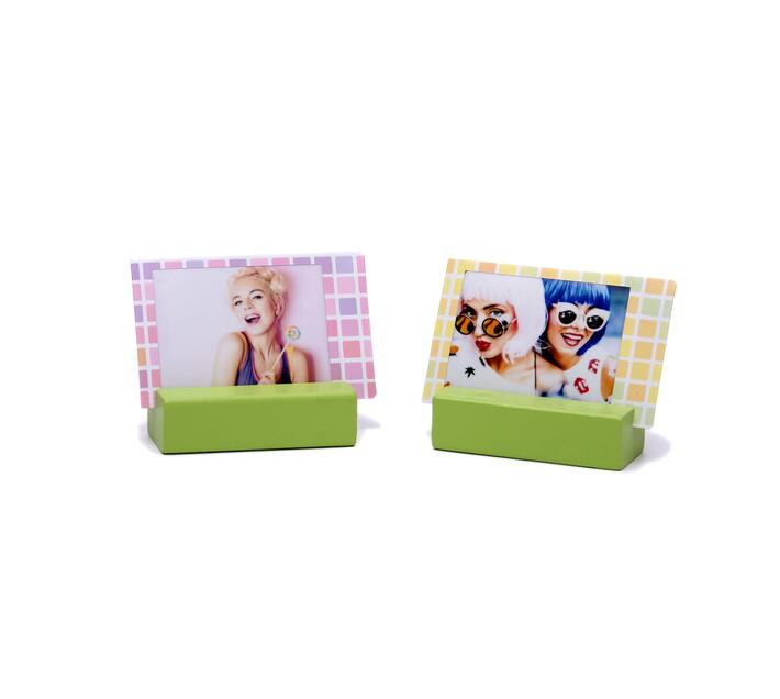 Instax Wooden Picture Stand Lime Green 2 stands
