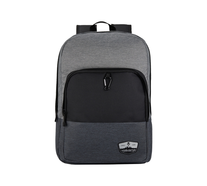 """Volkano Ripper Series 15.6"""" Backpack in Grey and Black with Laptop Compartment and Adjustable Shoulder Straps"""