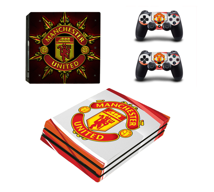 SKIN-NIT Decal Skin For PS4 Pro: Manchester United (Red + White)