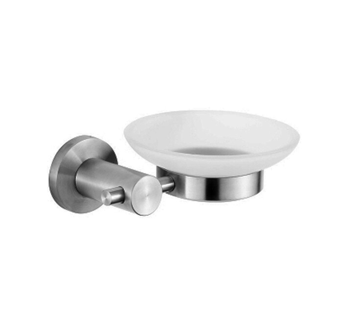 Fortis Stainless Steel Glass Soap Dish Satin