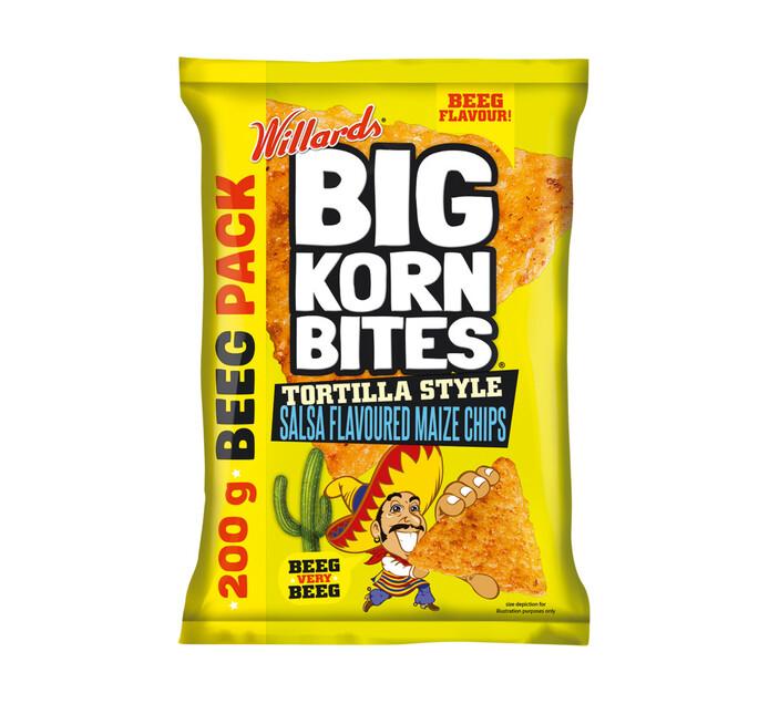 Willards Big Korn Bites Tortilla Salsa (18 x 200g)