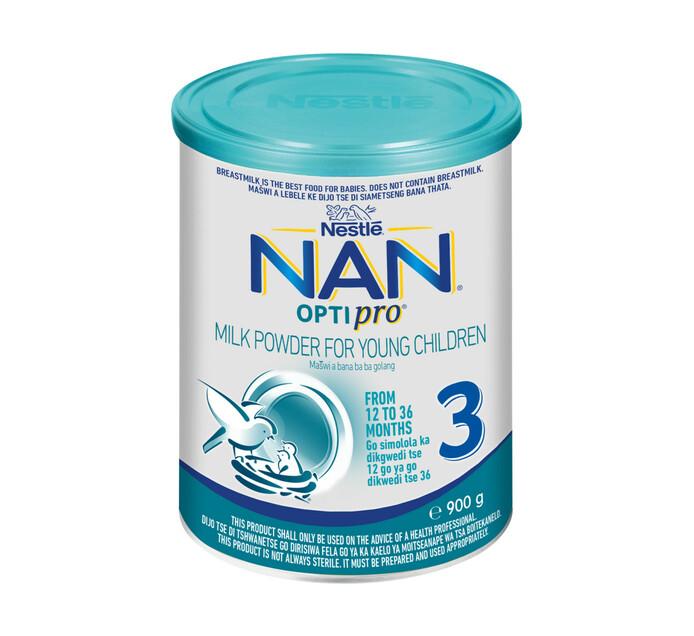 Nestle Nan Infant Milk Formula 3 Grow (1 x 900g)