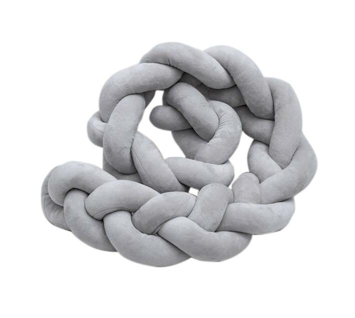 Nuovo - Knot Cot Bumper - 2M - Grey