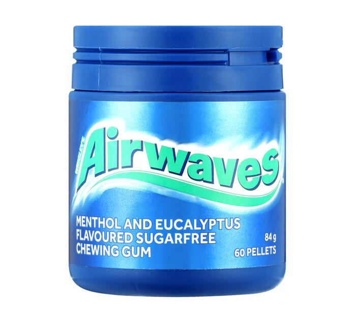 Airwaves Chewing Gum S/Free Menthol Eucalyptus (6 x 84g)